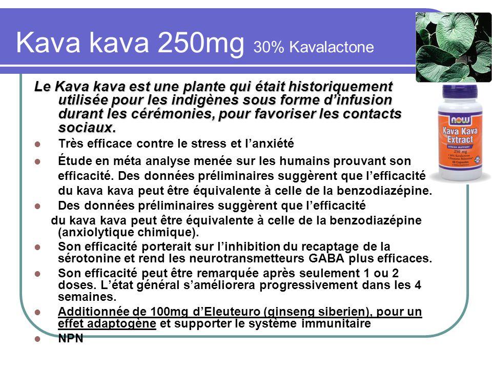Kava kava 250mg 30% Kavalactone