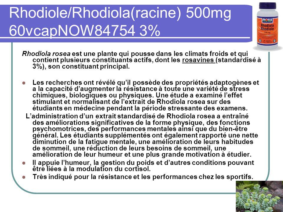 Rhodiole/Rhodiola(racine) 500mg 60vcapNOW84754 3%