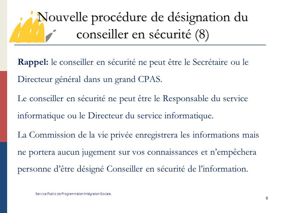 Nouvelle procédure de désignation du conseiller en sécurité (8)