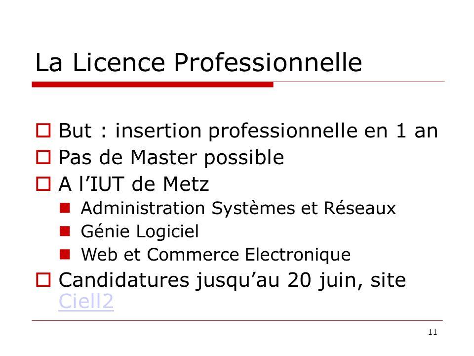 La Licence Professionnelle