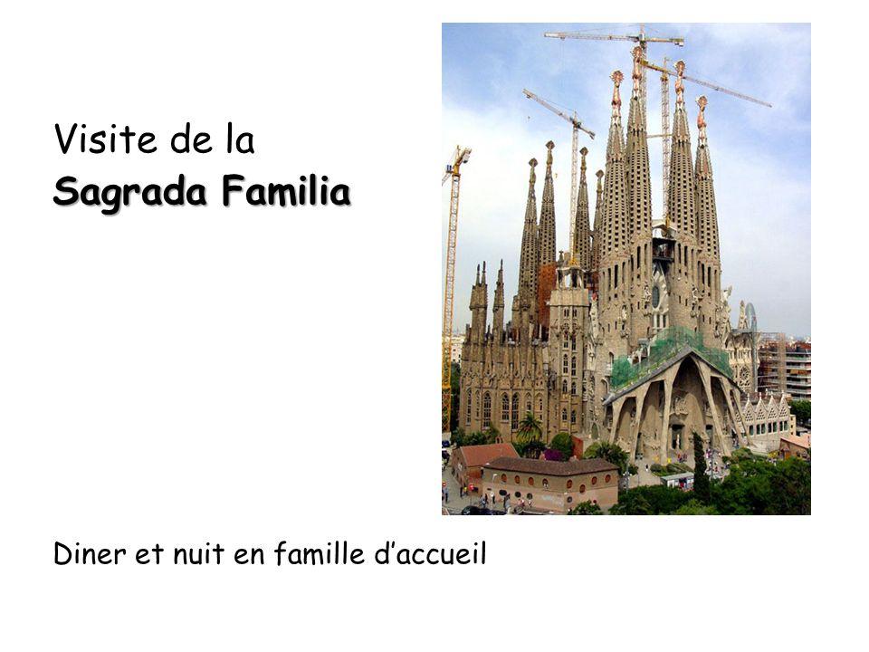 Visite de la Sagrada Familia Diner et nuit en famille d'accueil