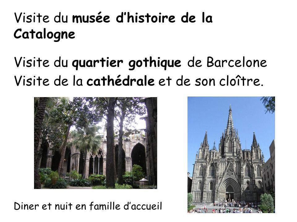Visite du musée d'histoire de la Catalogne