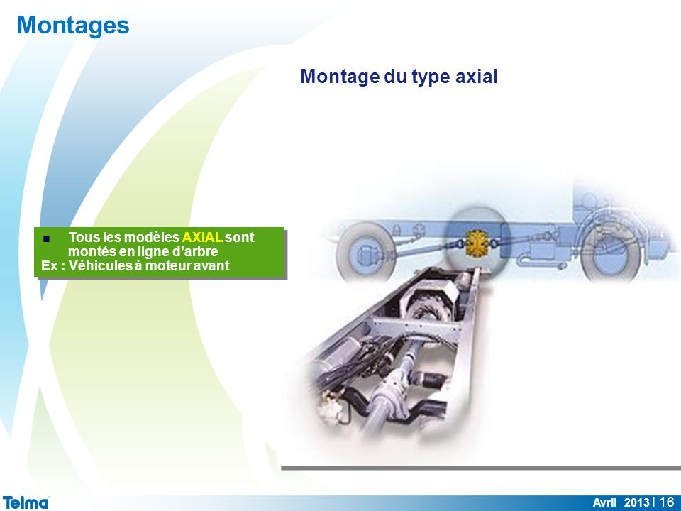 Montages Montage du type axial