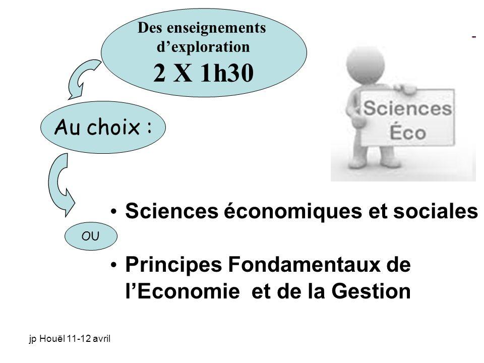 2 X 1h30 Au choix : Sciences économiques et sociales