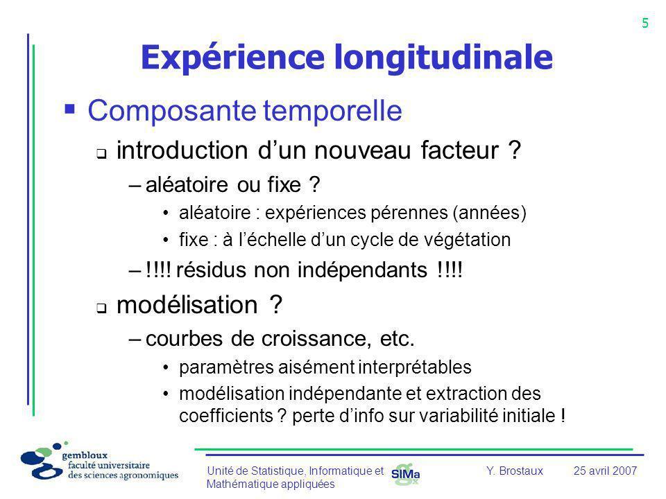 Expérience longitudinale