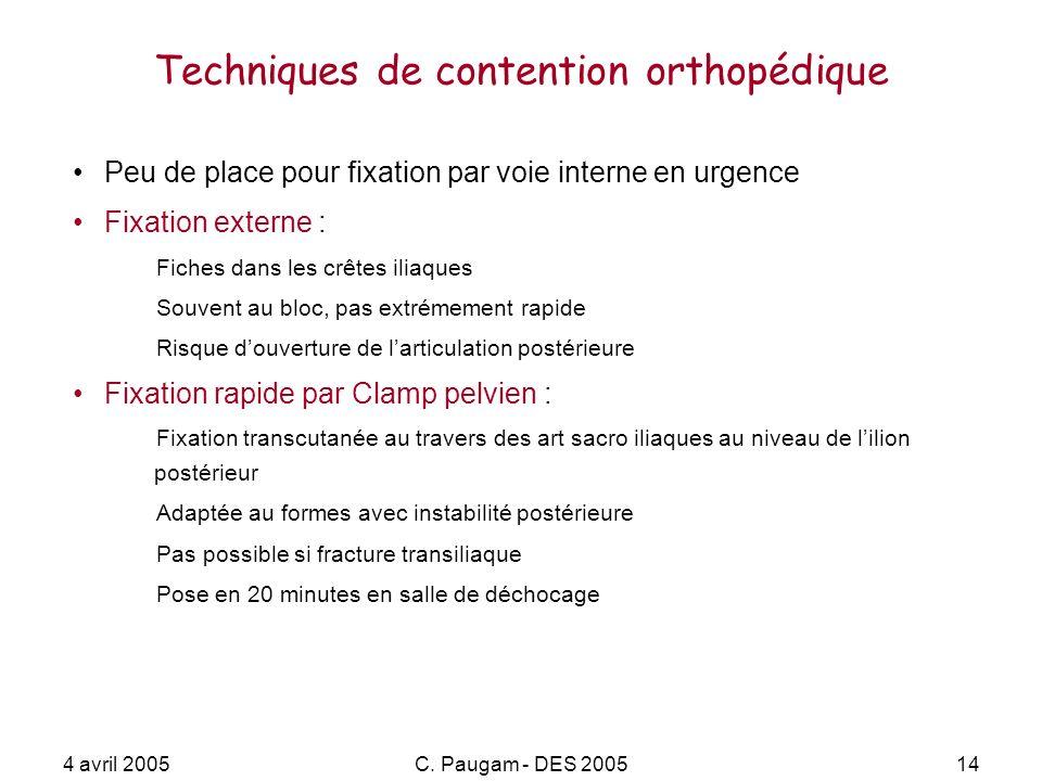 Techniques de contention orthopédique