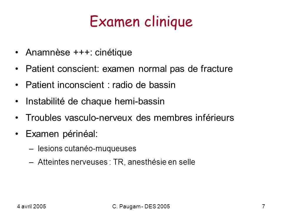 Examen clinique Anamnèse +++: cinétique