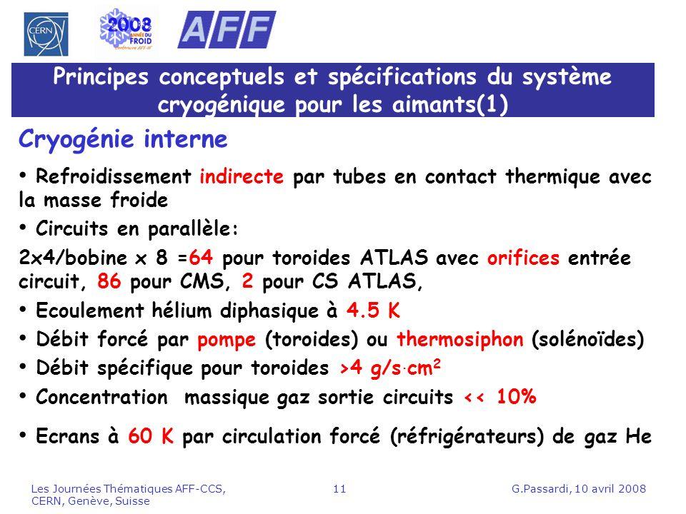 Principes conceptuels et spécifications du système cryogénique pour les aimants(1)