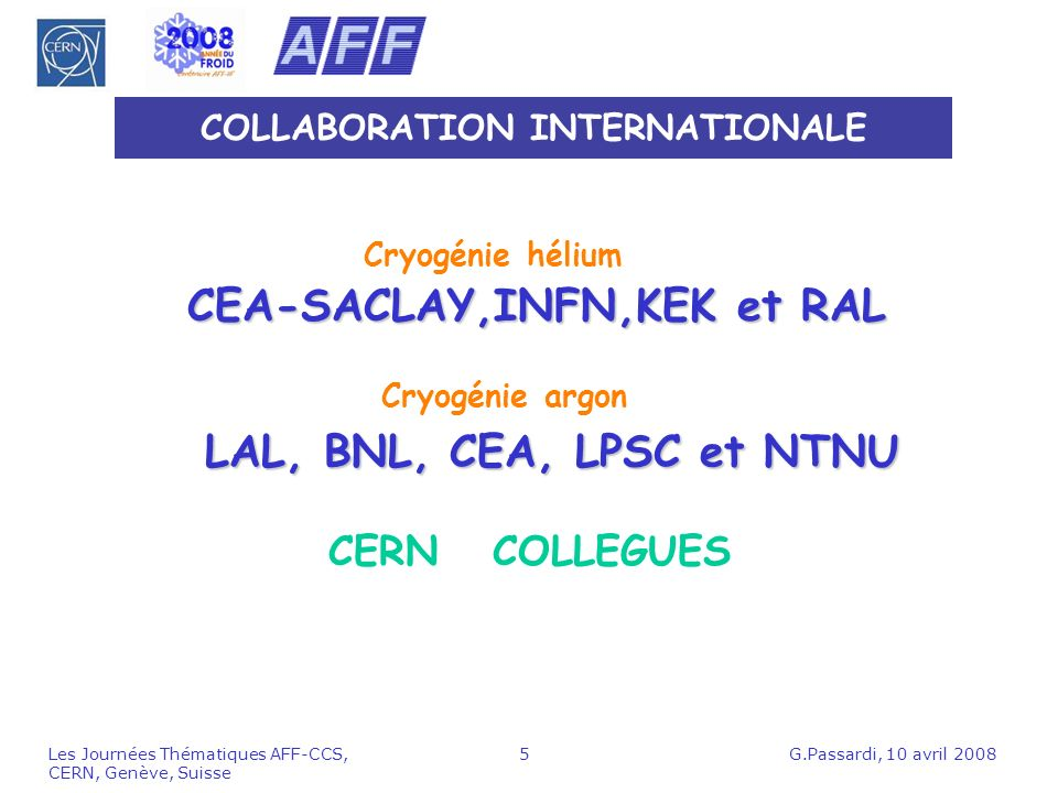 COLLABORATION INTERNATIONALE