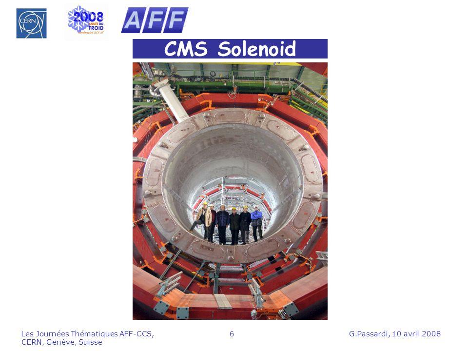 CMS Solenoid Les Journées Thématiques AFF-CCS, CERN, Genève, Suisse