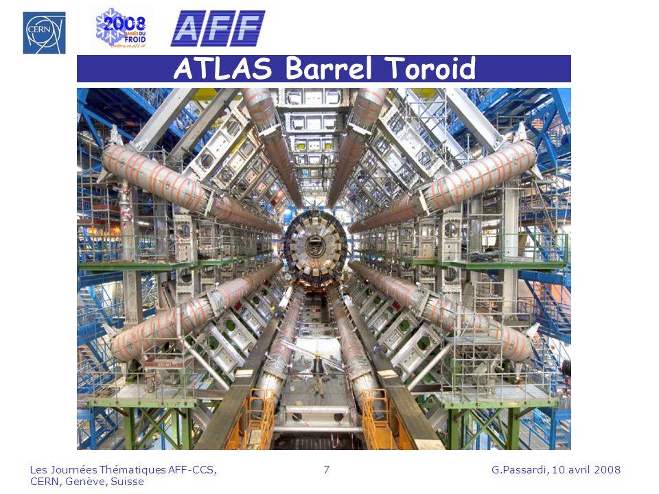 ATLAS Barrel Toroid Les Journées Thématiques AFF-CCS, CERN, Genève, Suisse.