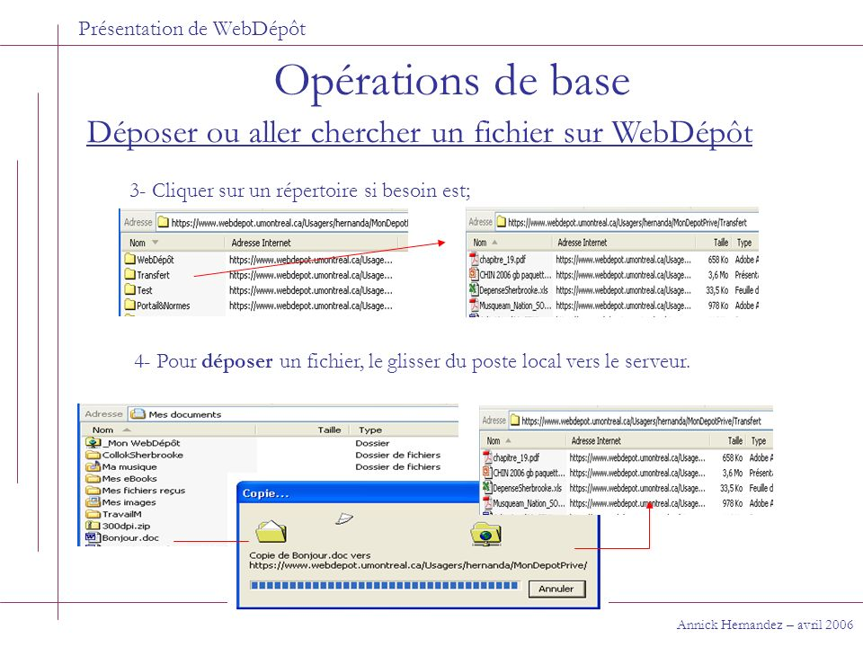 Présentation de WebDépôt