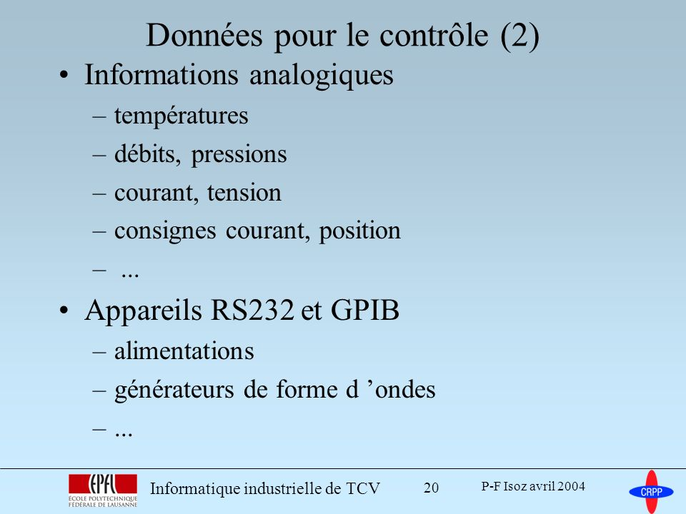 Données pour le contrôle (2)