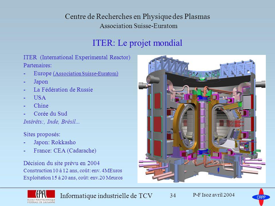 ITER: Le projet mondial