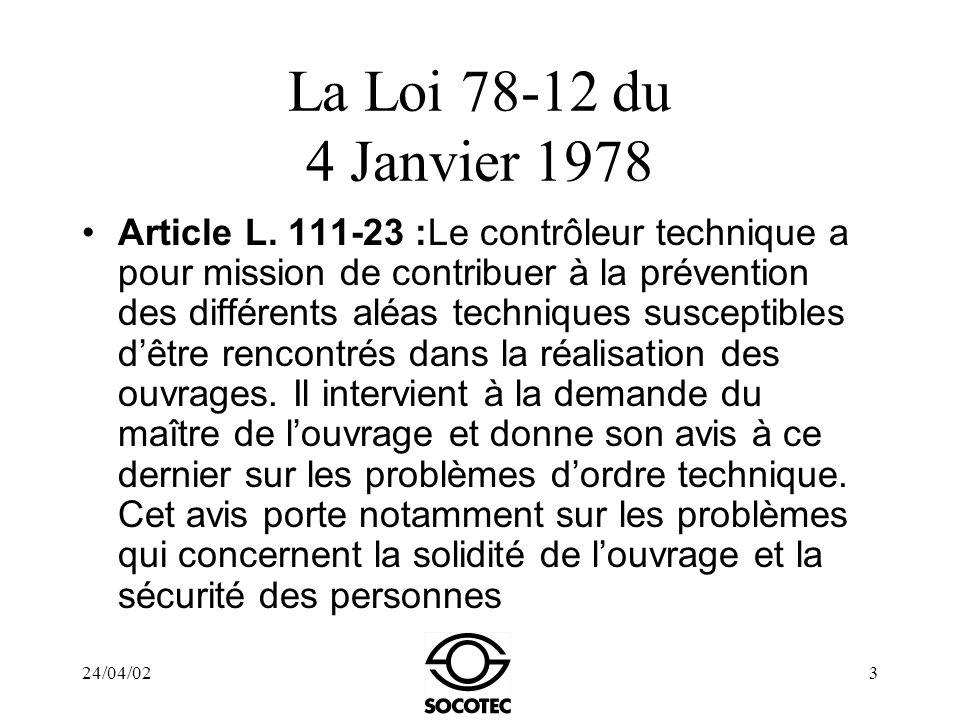 La Loi 78-12 du 4 Janvier 1978