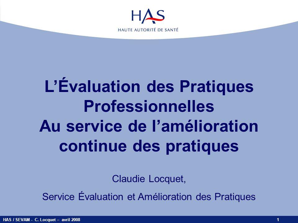 L'Évaluation des Pratiques Professionnelles