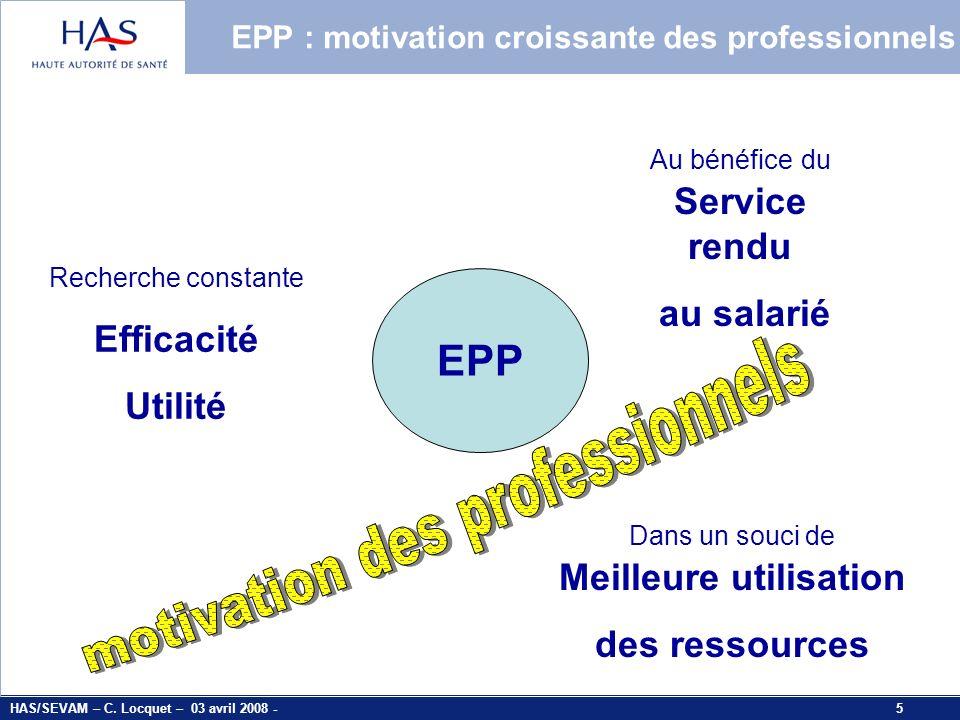 EPP : motivation croissante des professionnels