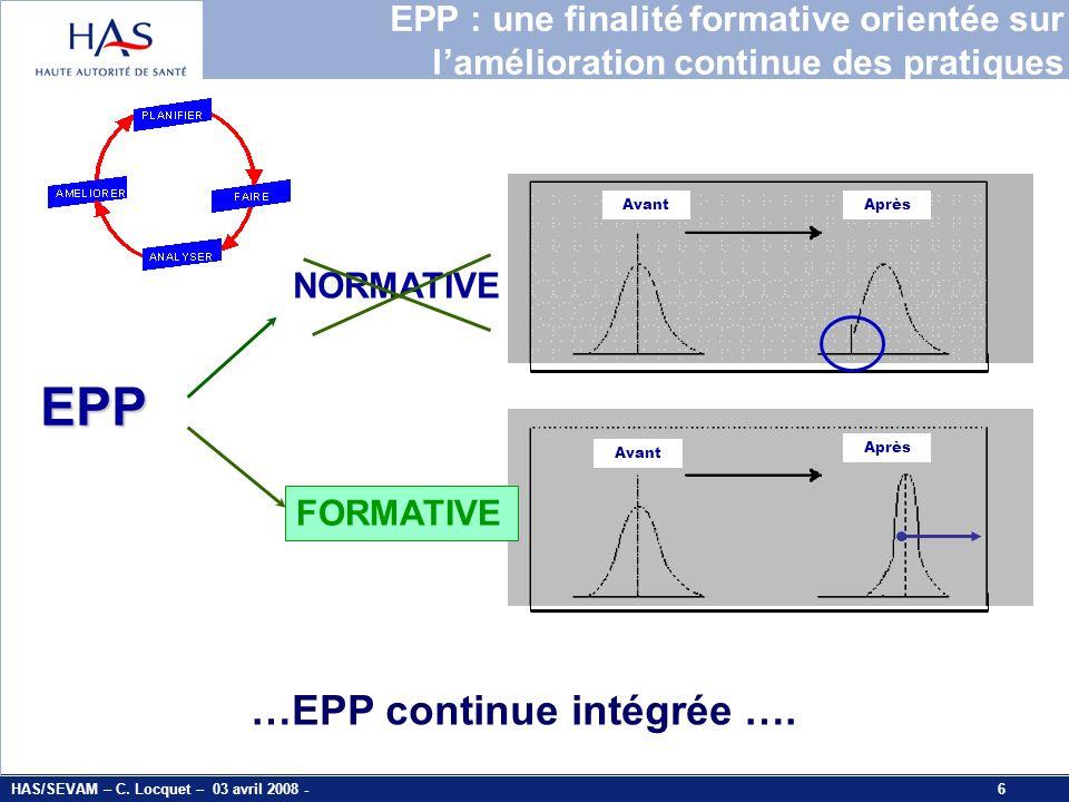 EPP …EPP continue intégrée ….
