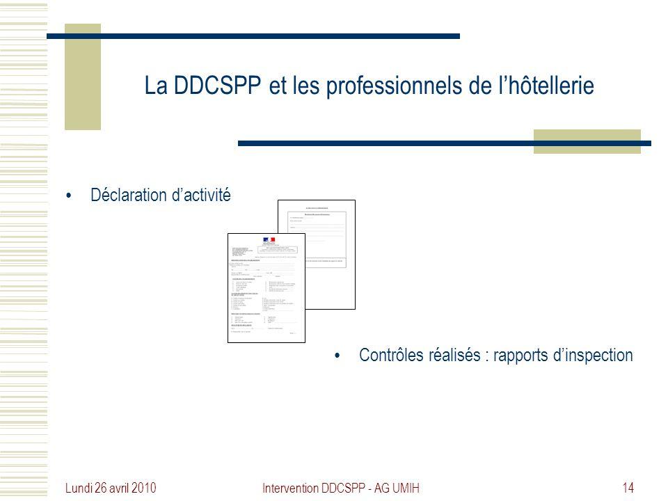 La DDCSPP et les professionnels de l'hôtellerie