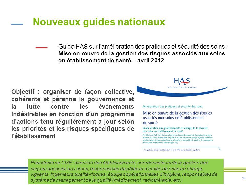 Nouveaux guides nationaux