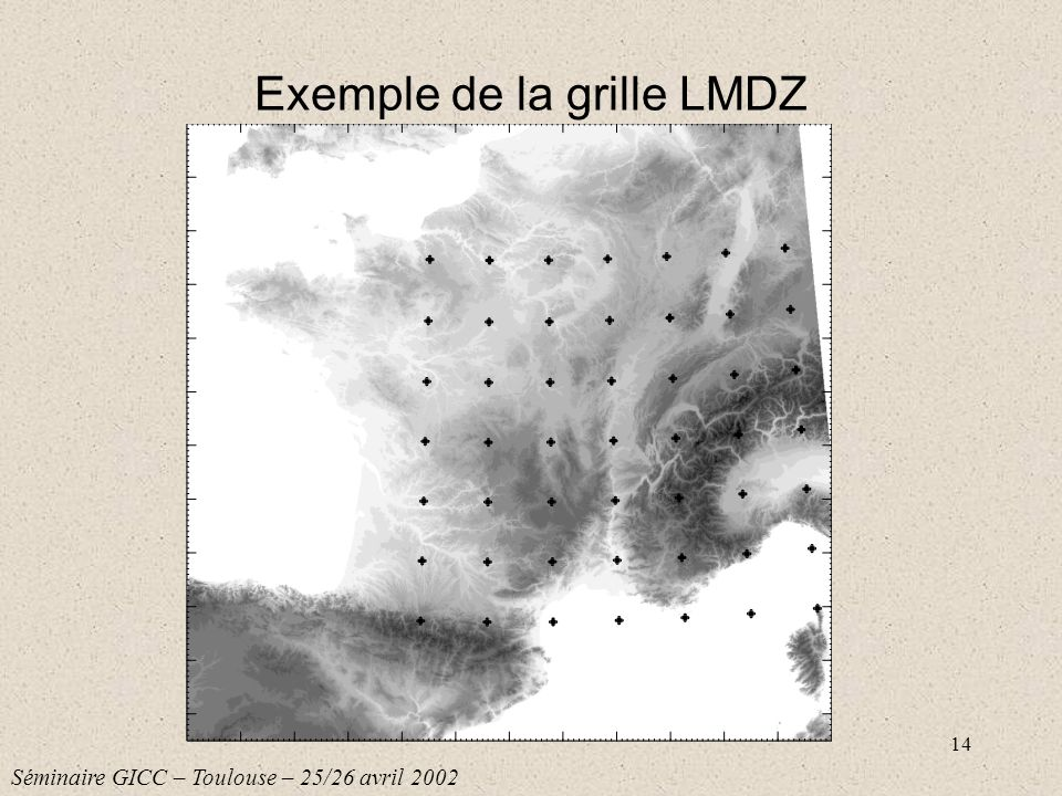 Exemple de la grille LMDZ