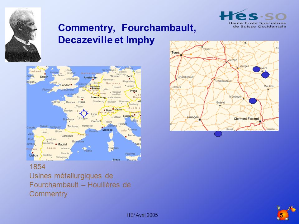Commentry, Fourchambault, Decazeville et Imphy