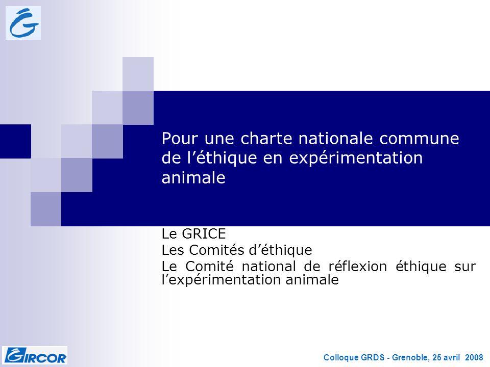 Pour une charte nationale commune de l'éthique en expérimentation animale