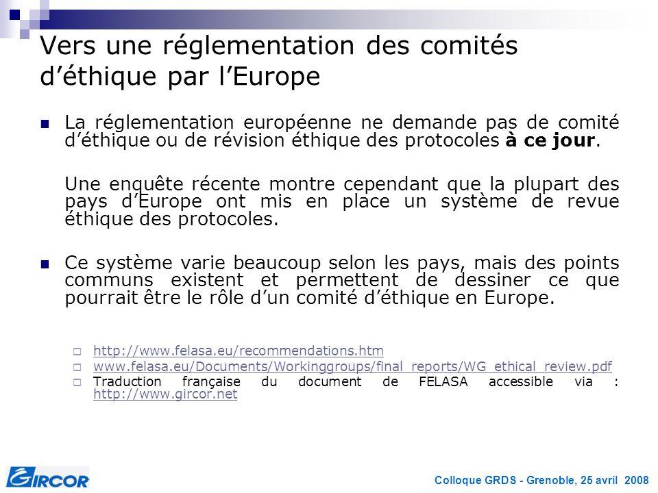Vers une réglementation des comités d'éthique par l'Europe