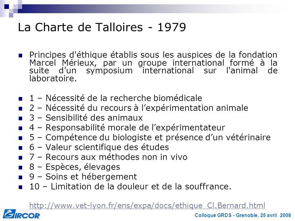 La Charte de Talloires - 1979