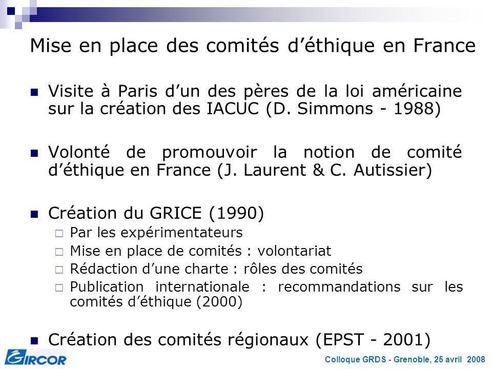 Mise en place des comités d'éthique en France