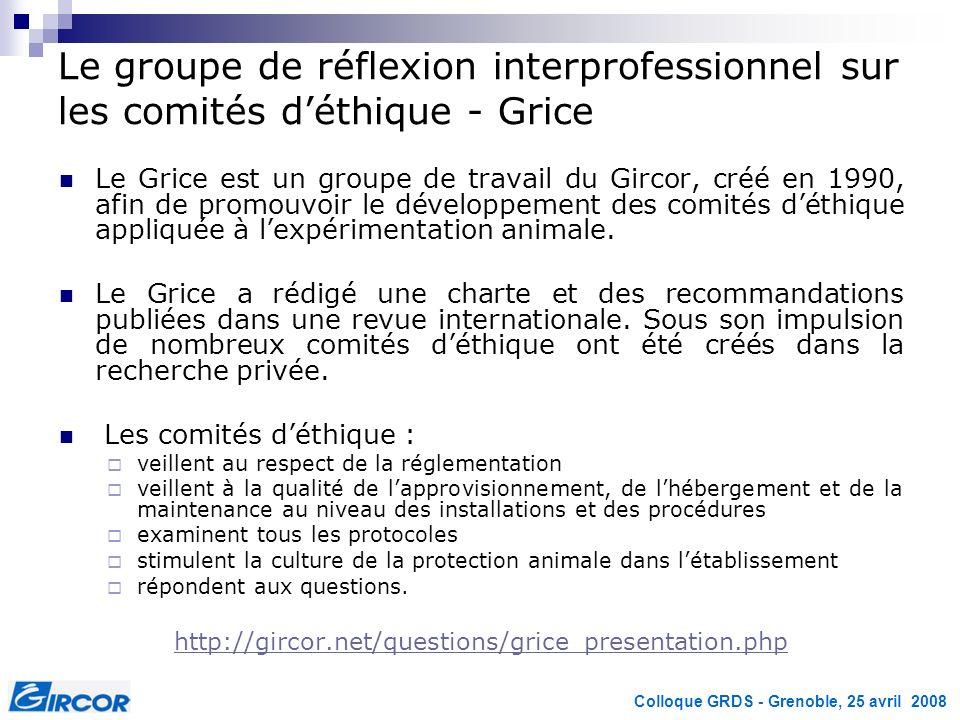 Le groupe de réflexion interprofessionnel sur les comités d'éthique - Grice