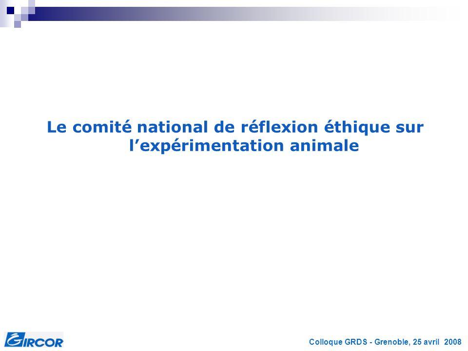 Le comité national de réflexion éthique sur l'expérimentation animale