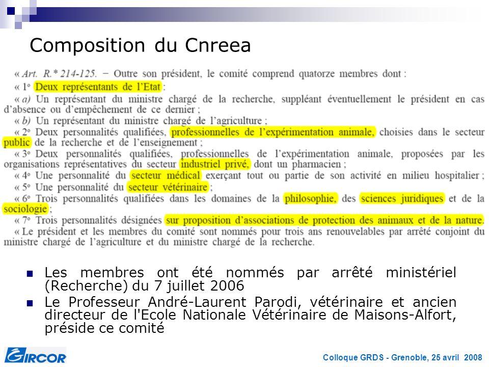Composition du Cnreea Les membres ont été nommés par arrêté ministériel (Recherche) du 7 juillet 2006.