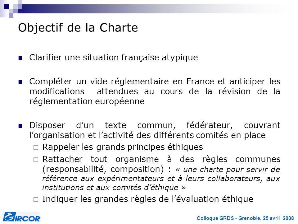 Objectif de la Charte Clarifier une situation française atypique