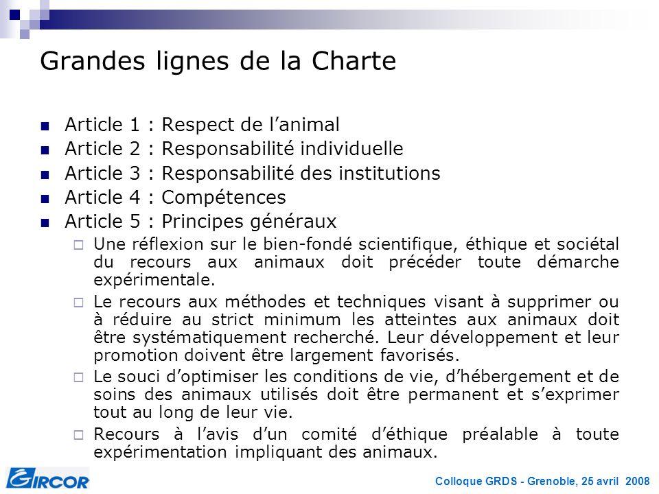 Grandes lignes de la Charte