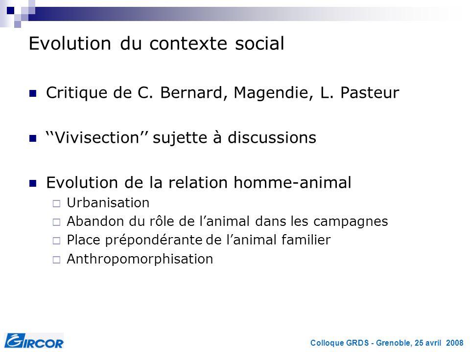 Evolution du contexte social