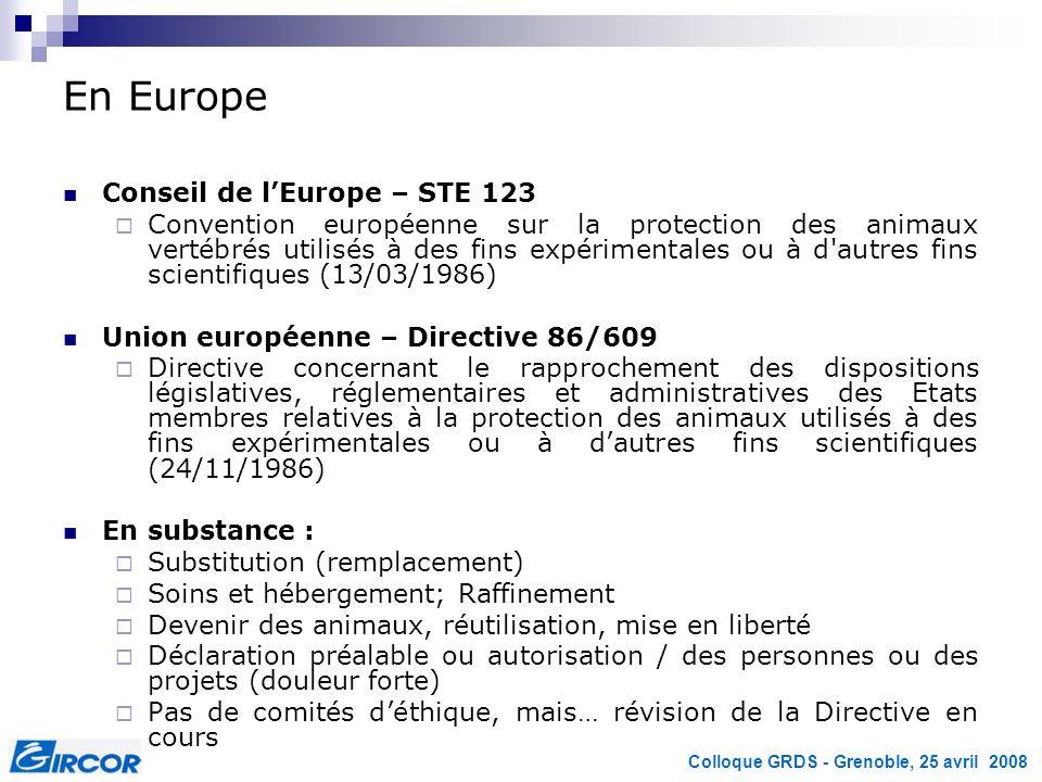 En Europe Conseil de l'Europe – STE 123