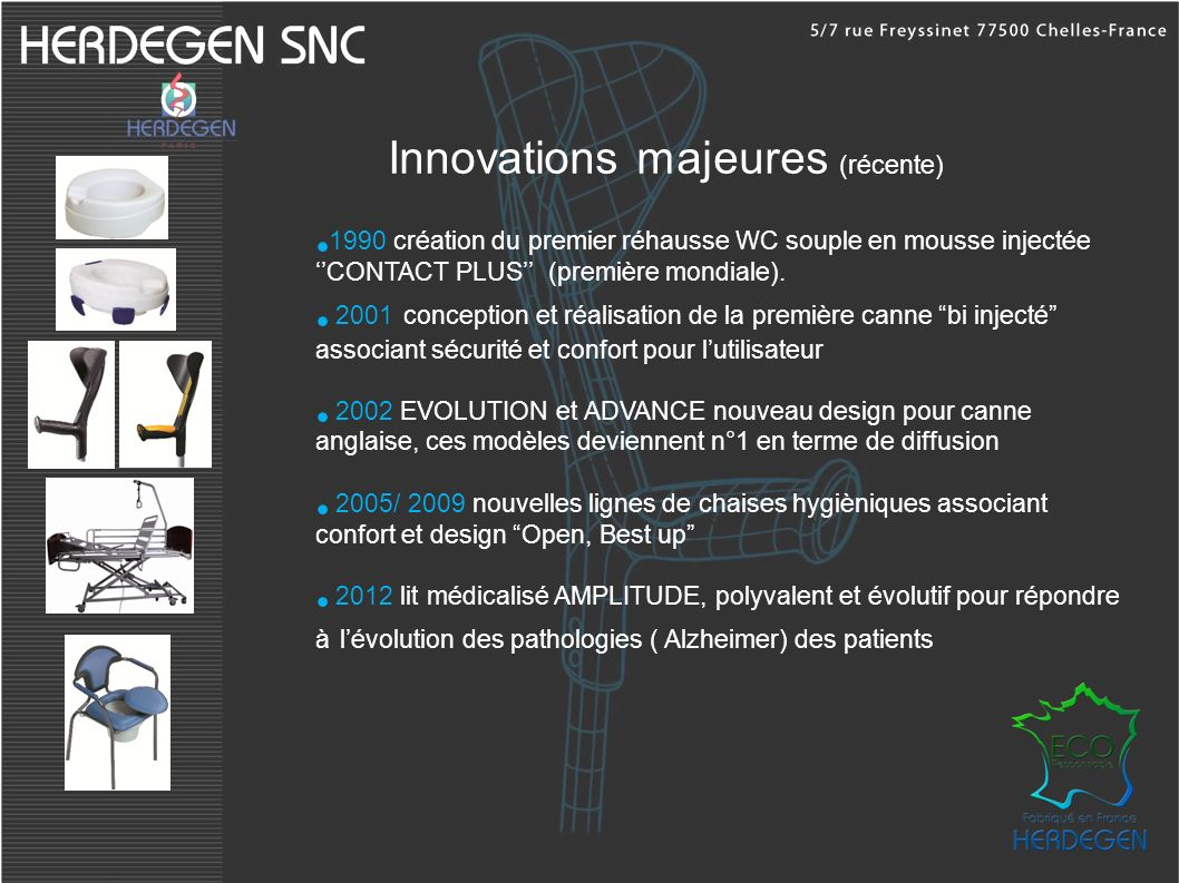 Innovations majeures (récente)
