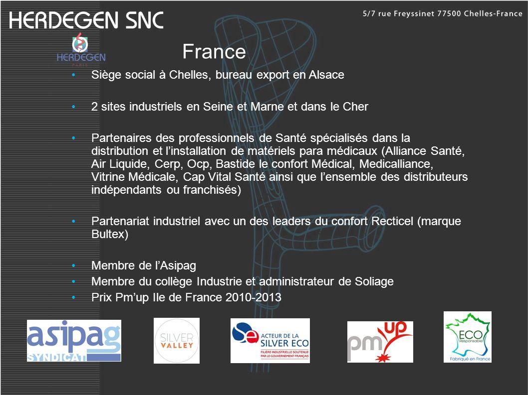 France Siège social à Chelles, bureau export en Alsace