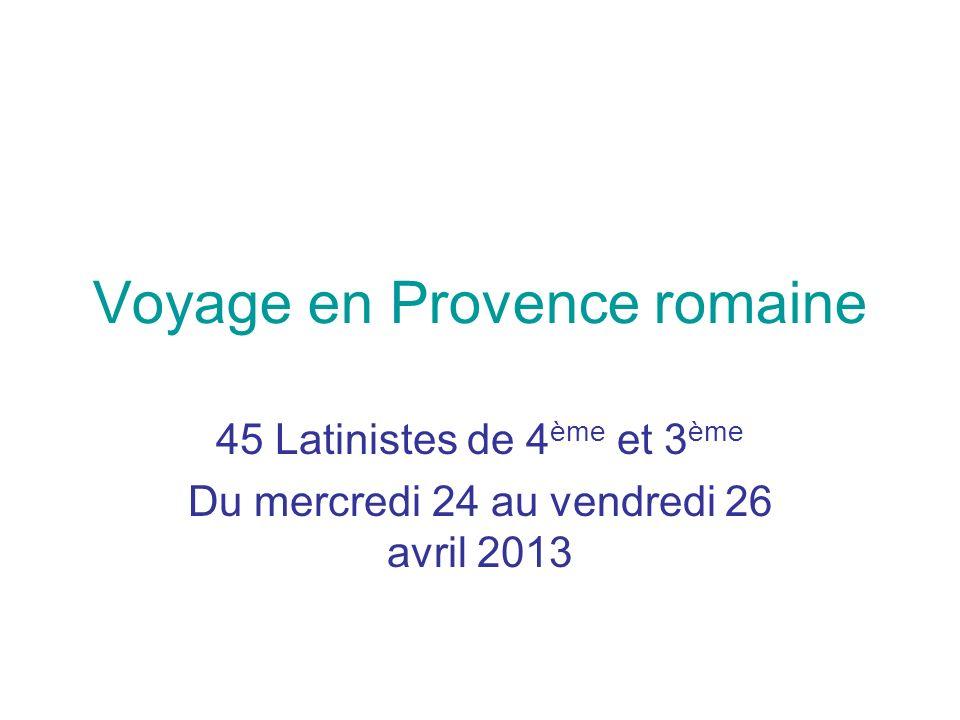 Voyage en Provence romaine