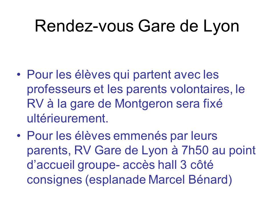 Rendez-vous Gare de Lyon