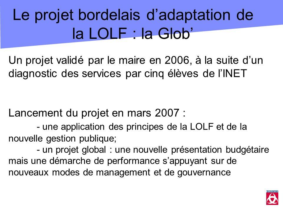 Le projet bordelais d'adaptation de la LOLF : la Glob'