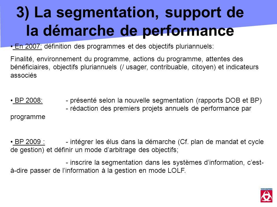 3) La segmentation, support de la démarche de performance