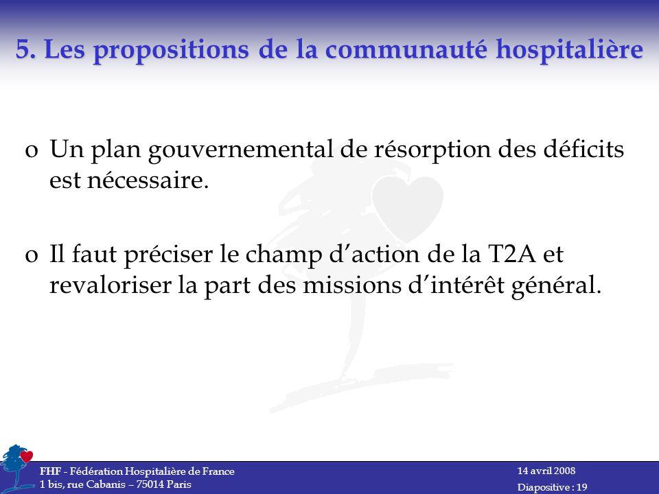 5. Les propositions de la communauté hospitalière