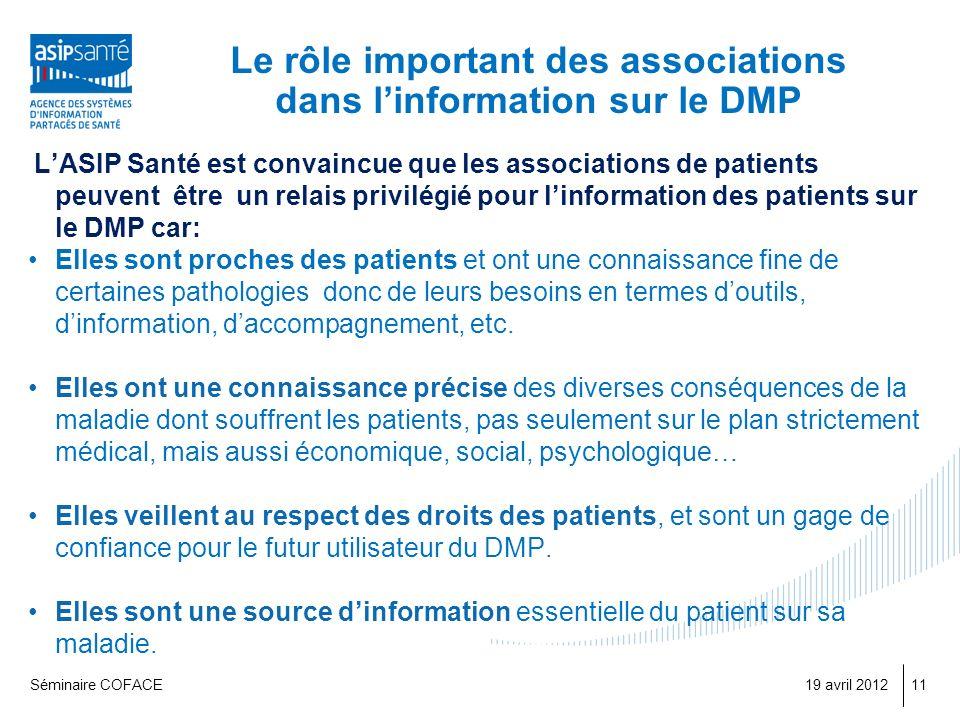 Le rôle important des associations dans l'information sur le DMP