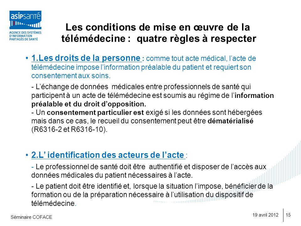 Les conditions de mise en œuvre de la télémédecine : quatre règles à respecter