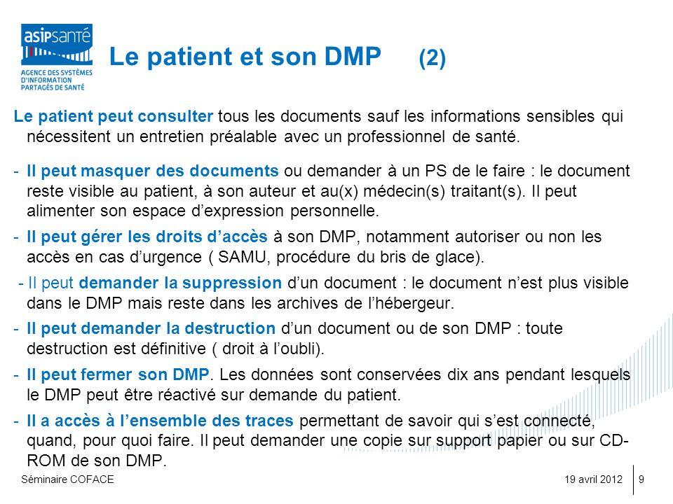Le patient et son DMP (2)