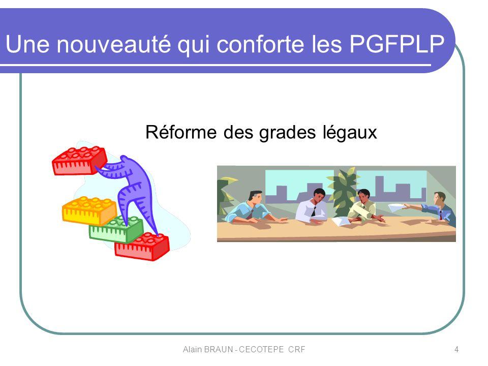 Une nouveauté qui conforte les PGFPLP