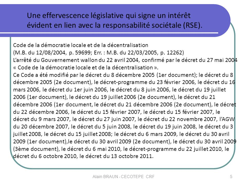 Alain BRAUN - CECOTEPE CRF