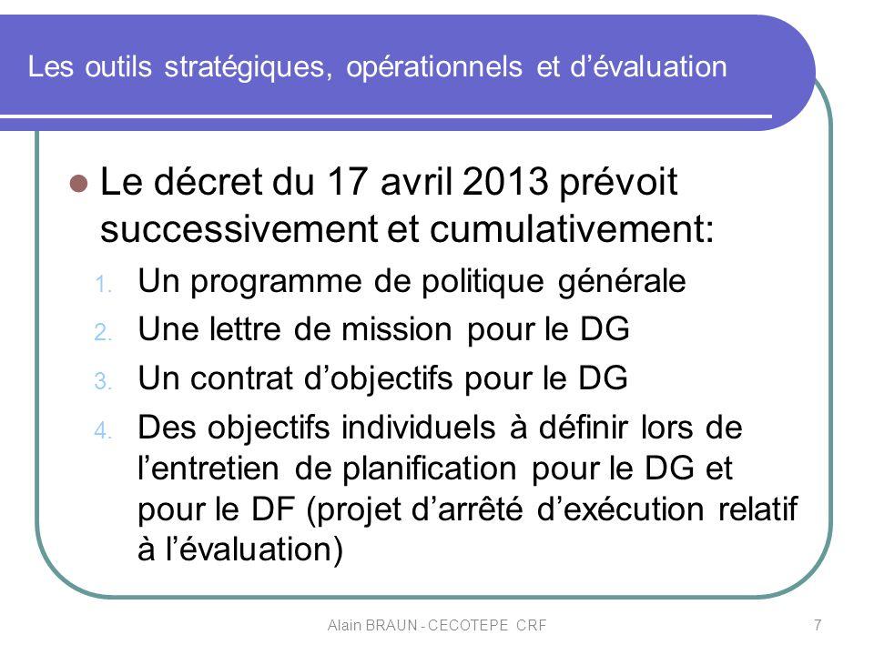 Les outils stratégiques, opérationnels et d'évaluation